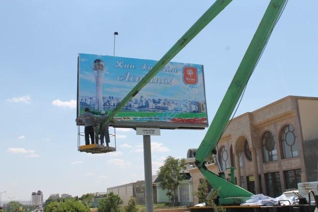Ару қала - Астана құрметіне жасалған безендіру жұмыстары жалғасып жатыр