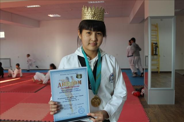 Жібек Тұрғынбаева - ушу саньда бойынша ҚР чемпионы