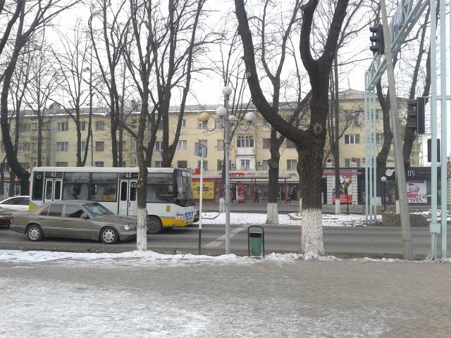 Қала орталығындағы Б.Момышұлы көшесі