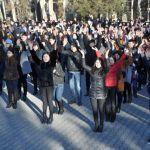 Оңтүстікте 30 мың студент бір мезгілде жаттығу жасады