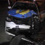 Полиция көлігі жол апатына ұшырады