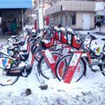 «Шымкентбайктың» велосипедтерін қар басып жатыр