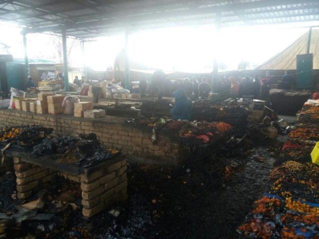Мақтааралдағы базар өртіне қатысты қылмысты іс қозғалды