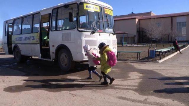 Шымкенттегі шалғай елдімекен оқушыларын арнайы автобустар тасымалдауда