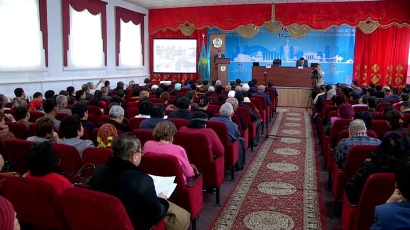 Еңбекші ауданының әкімі есеп берді
