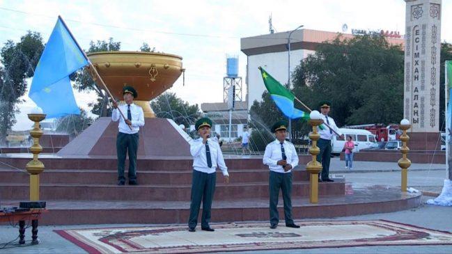 Шекарашылар эстафетасы Түркістанға жетті
