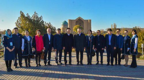 Қытай делегациясы Түркістанды аралады