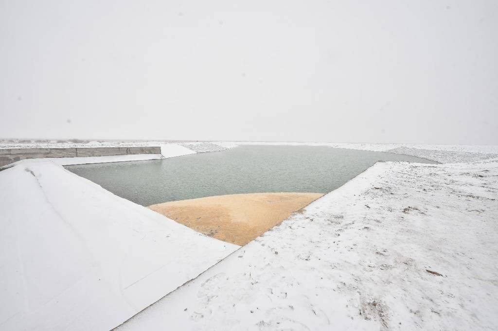 Түркістандағы жаңа су қоймасынан 350 гектар суарылады